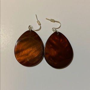 brown shell earrings